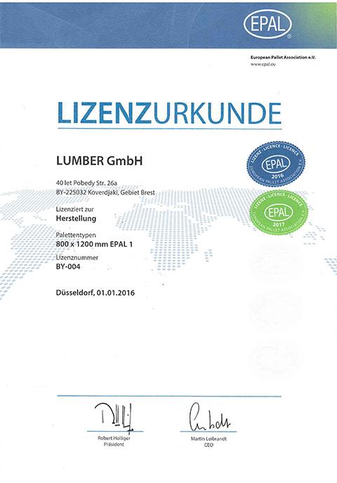 Lizenz EPAL